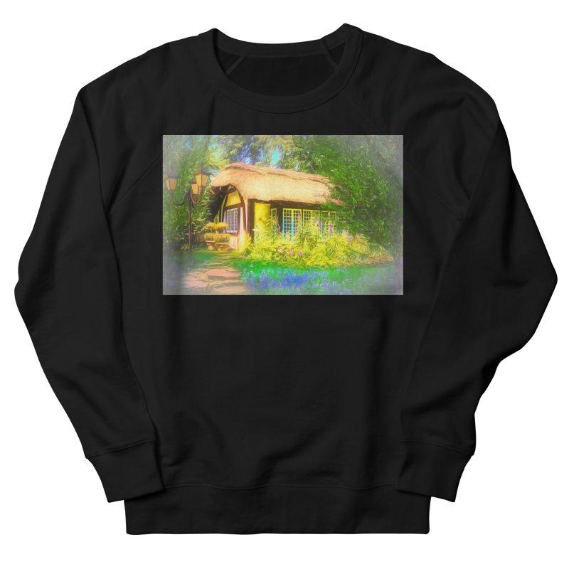 The Cottage Women's French Terry Sweatshirt by Jasmina Seidl's Artist Shop