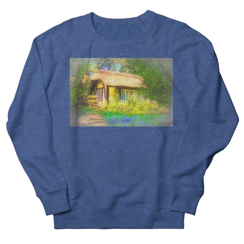 The Cottage Men's French Terry Sweatshirt by Jasmina Seidl's Artist Shop