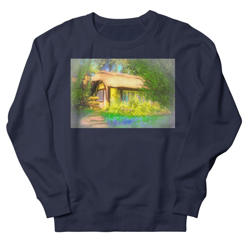 The Cottage Men's French Terry Sweatshirt by Jasmina Seidl's Artist Shop