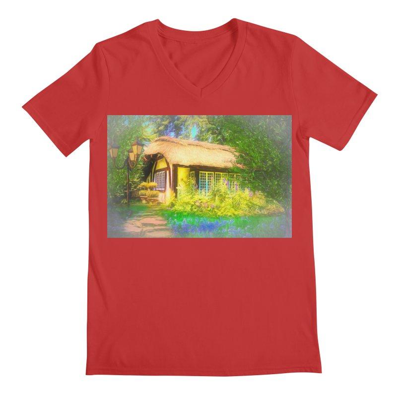 The Cottage Men's Regular V-Neck by Jasmina Seidl's Artist Shop