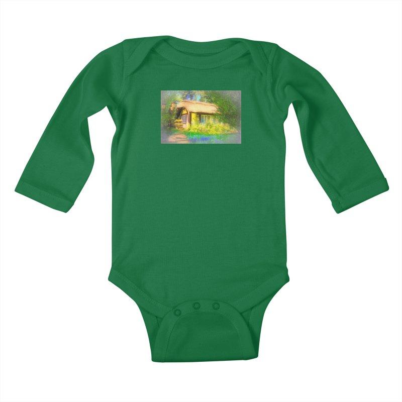 The Cottage Kids Baby Longsleeve Bodysuit by Jasmina Seidl's Artist Shop
