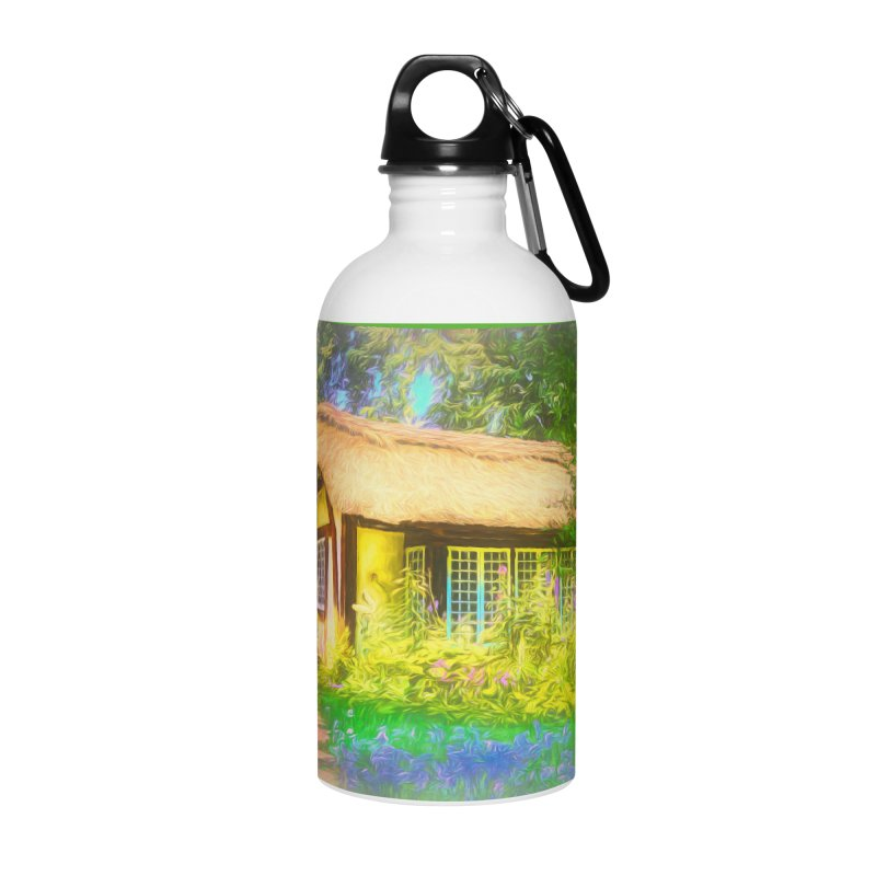 The Cottage Accessories Water Bottle by Jasmina Seidl's Artist Shop