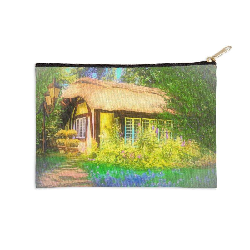 The Cottage Accessories Zip Pouch by Jasmina Seidl's Artist Shop