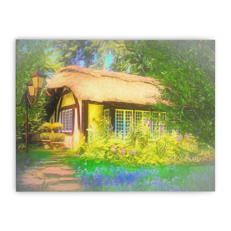 The Cottage Home Stretched Canvas by Jasmina Seidl's Artist Shop