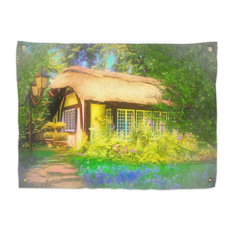 The Cottage Home Tapestry by Jasmina Seidl's Artist Shop