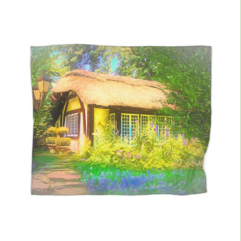 The Cottage Home Fleece Blanket Blanket by Jasmina Seidl's Artist Shop