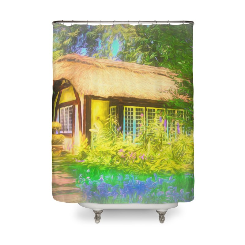 The Cottage Home Shower Curtain by Jasmina Seidl's Artist Shop