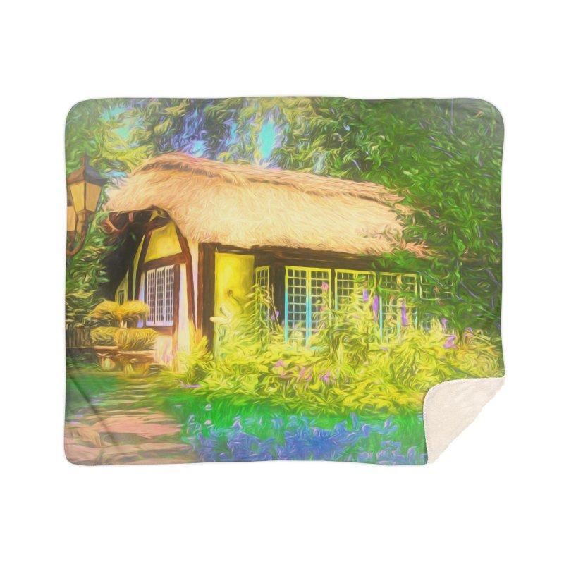 The Cottage Home Sherpa Blanket Blanket by Jasmina Seidl's Artist Shop
