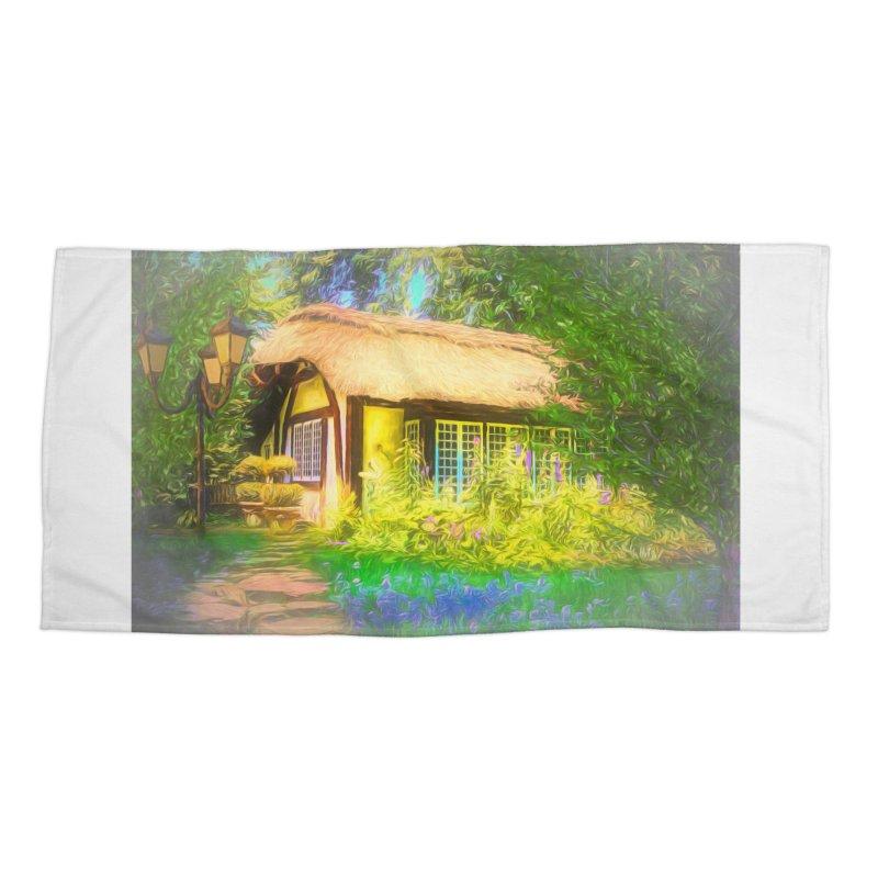 The Cottage Accessories Beach Towel by Jasmina Seidl's Artist Shop