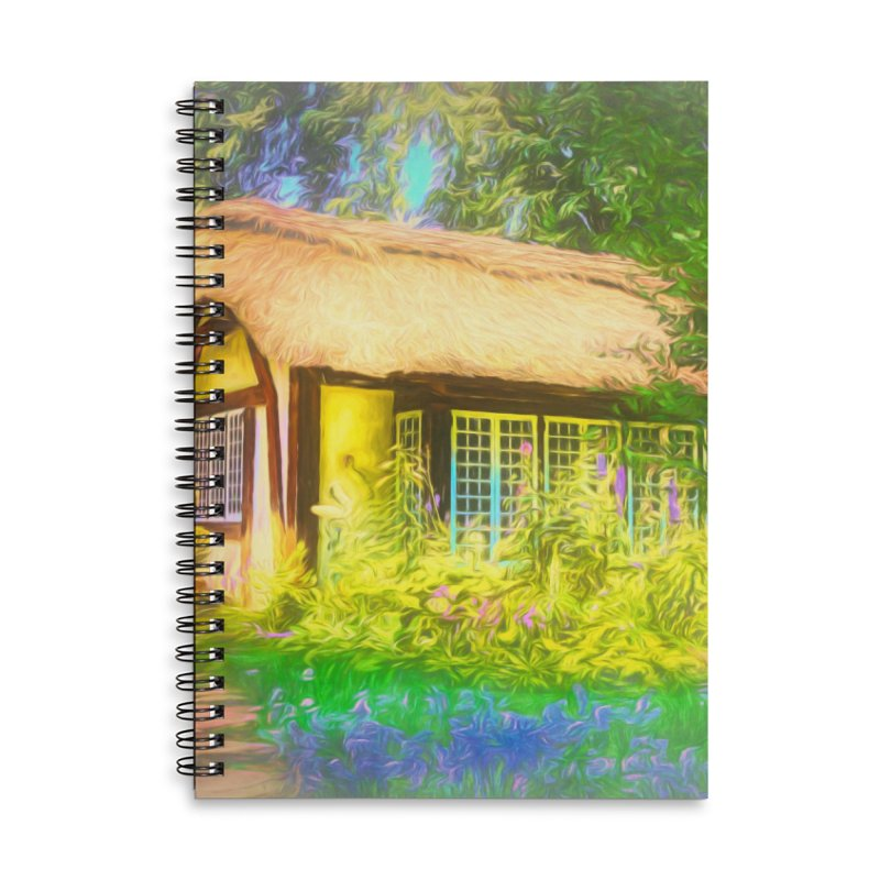 The Cottage Accessories Lined Spiral Notebook by Jasmina Seidl's Artist Shop