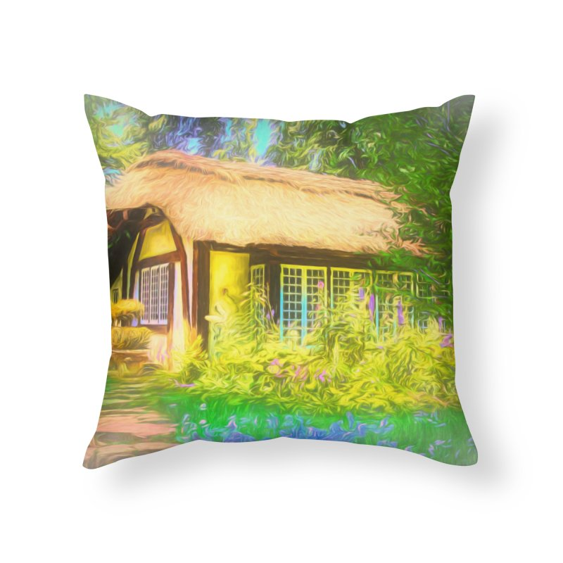 The Cottage Home Throw Pillow by Jasmina Seidl's Artist Shop