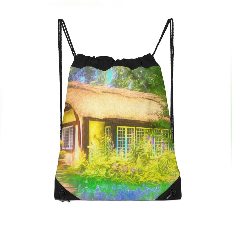 The Cottage Accessories Drawstring Bag Bag by Jasmina Seidl's Artist Shop