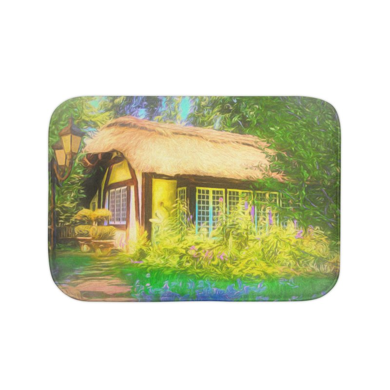 The Cottage Home Bath Mat by Jasmina Seidl's Artist Shop