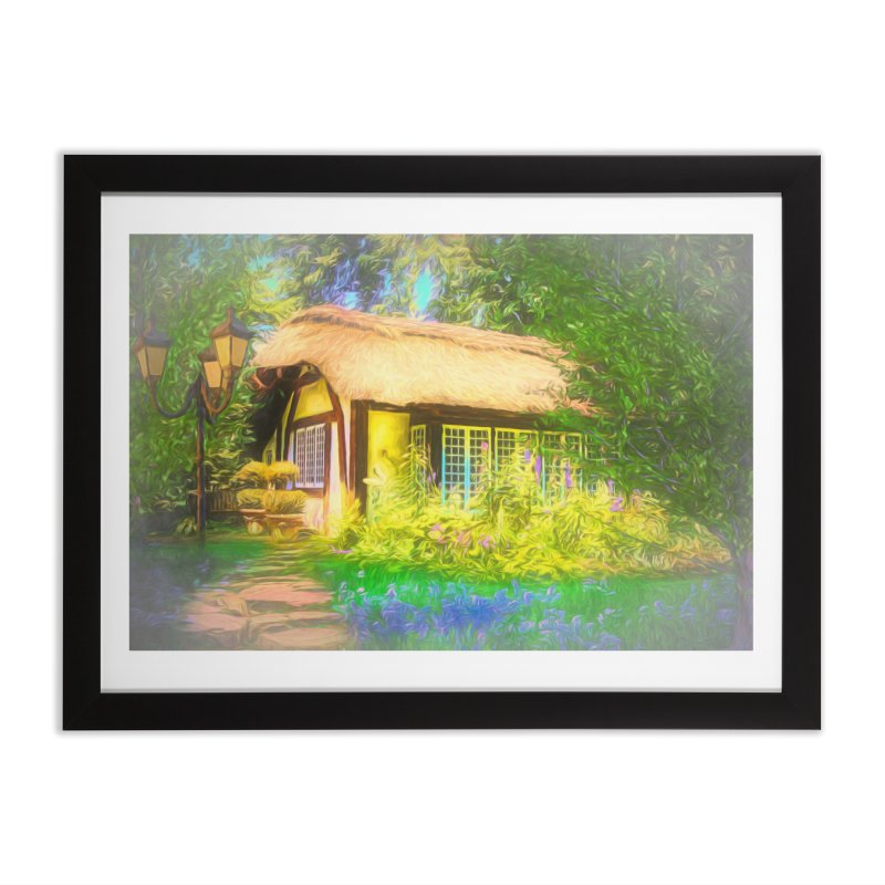 The Cottage Home Framed Fine Art Print by Jasmina Seidl's Artist Shop