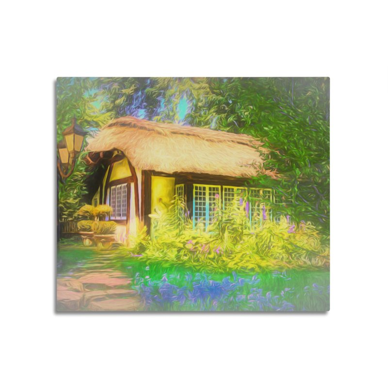 The Cottage Home Mounted Aluminum Print by Jasmina Seidl's Artist Shop
