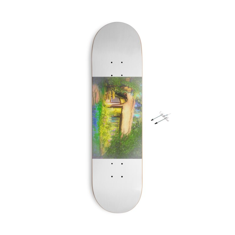 The Cottage Accessories With Hanging Hardware Skateboard by Jasmina Seidl's Artist Shop