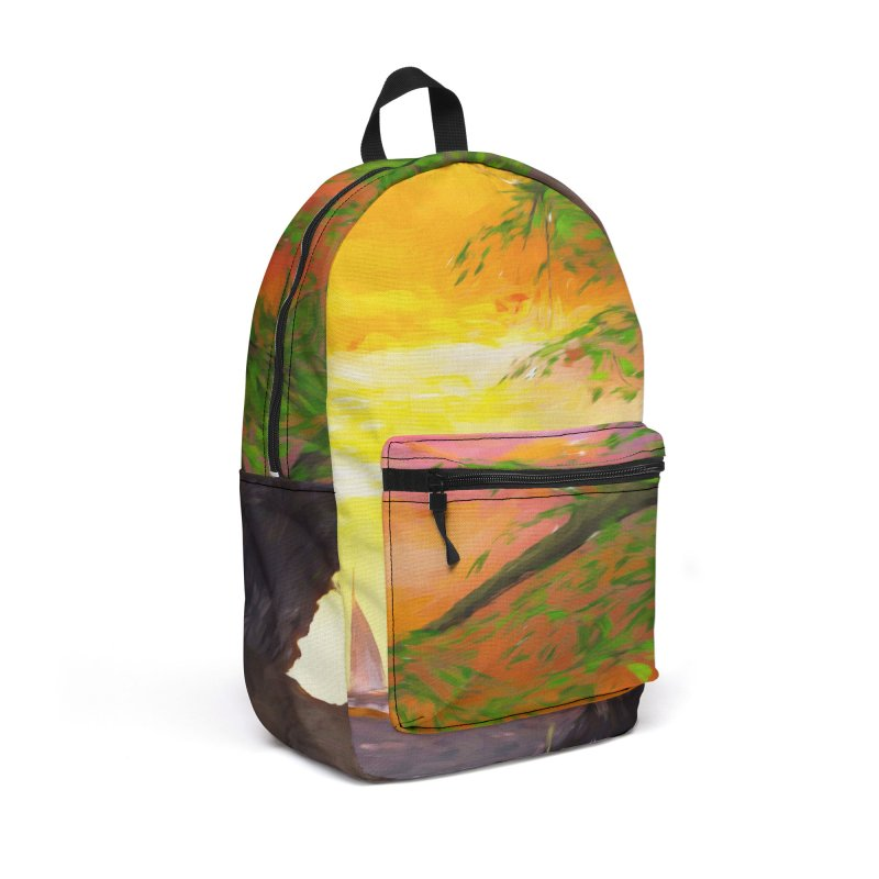 Sunset Dream Accessories Backpack Bag by Jasmina Seidl's Artist Shop