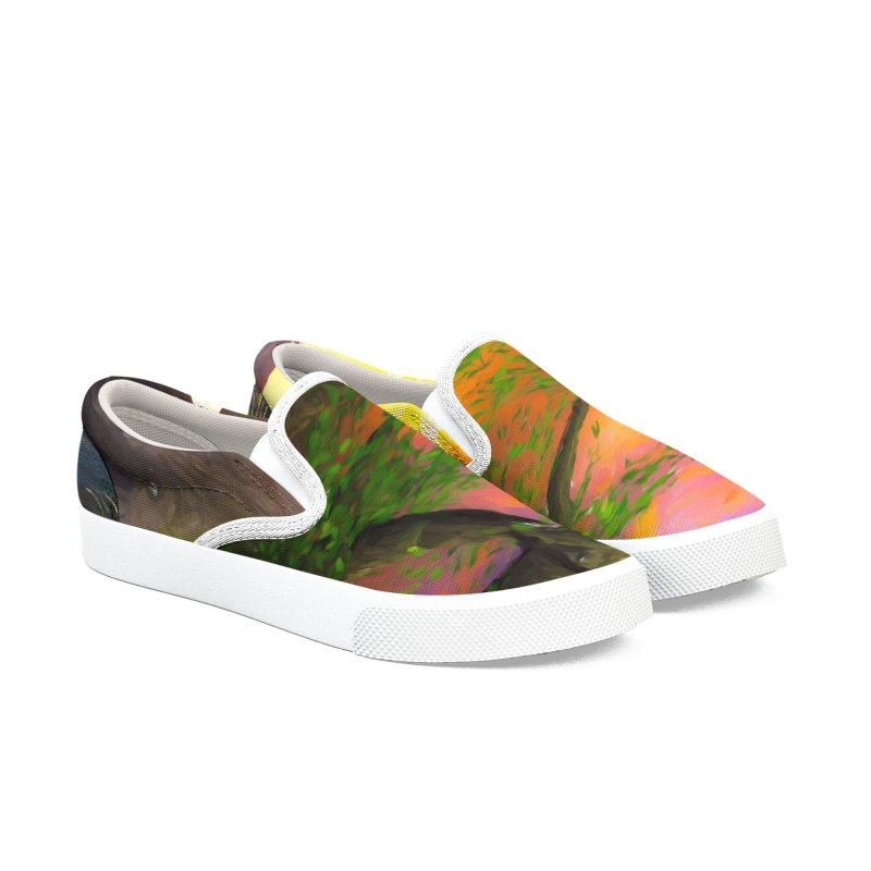 Sunset Dream Men's Slip-On Shoes by Jasmina Seidl's Artist Shop