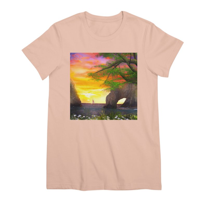 Sunset Dream Women's Premium T-Shirt by Jasmina Seidl's Artist Shop