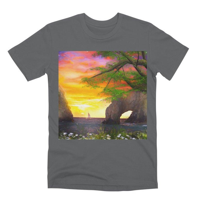 Sunset Dream Men's Premium T-Shirt by Jasmina Seidl's Artist Shop