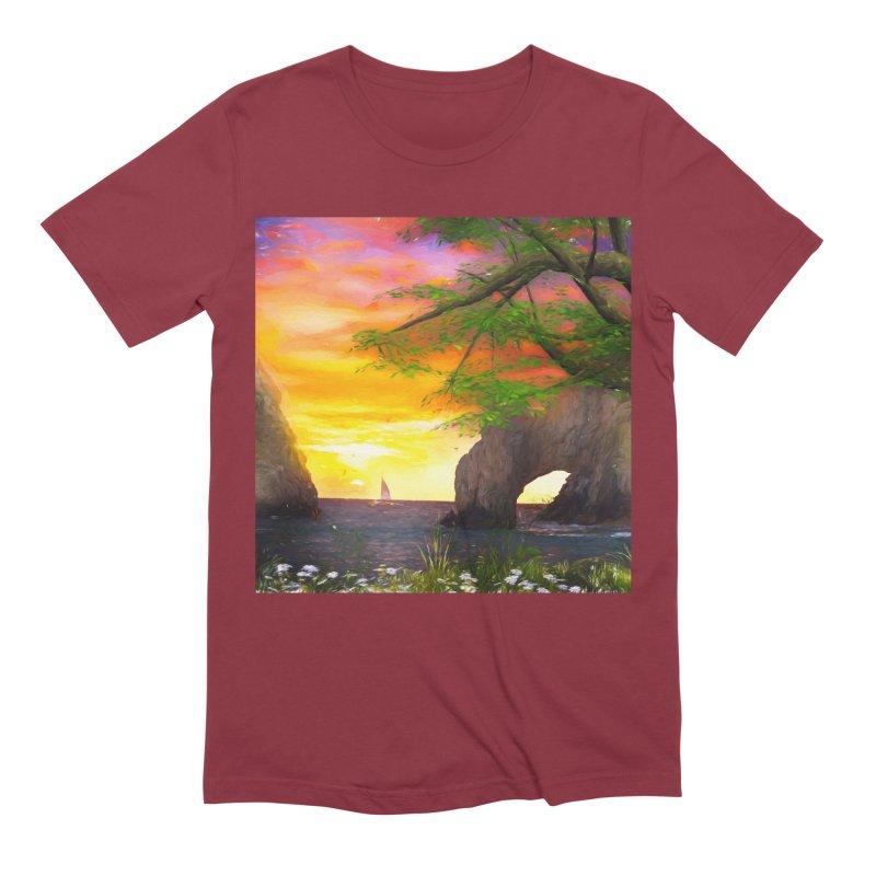 Sunset Dream Men's Extra Soft T-Shirt by Jasmina Seidl's Artist Shop