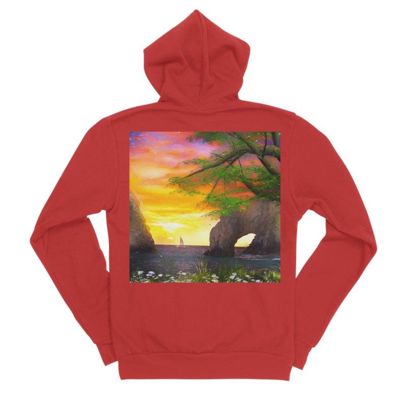 Sunset Dream Men's Sponge Fleece Zip-Up Hoody by Jasmina Seidl's Artist Shop