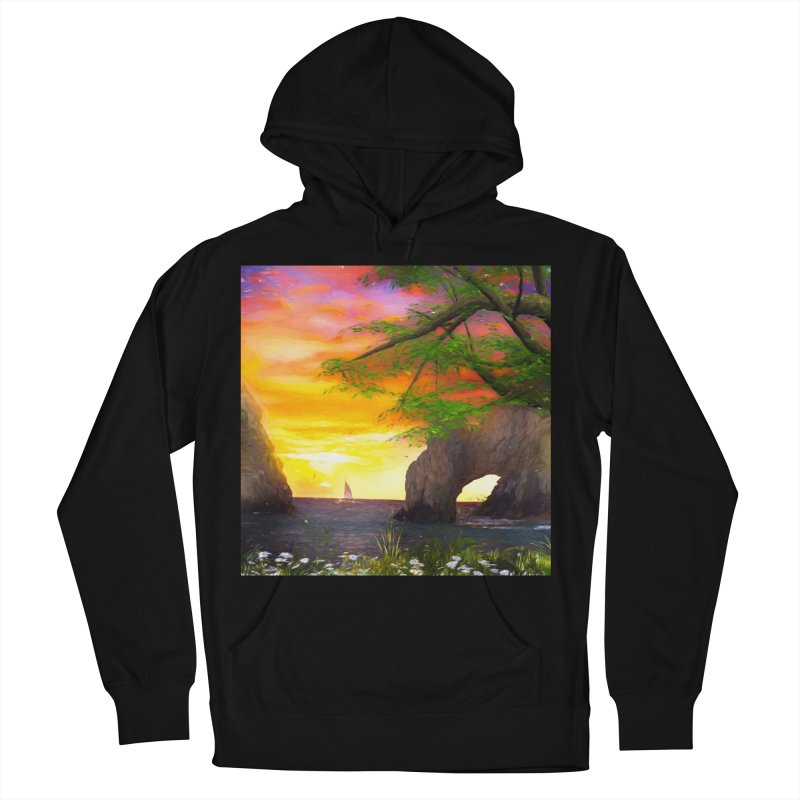 Sunset Dream Men's French Terry Pullover Hoody by Jasmina Seidl's Artist Shop