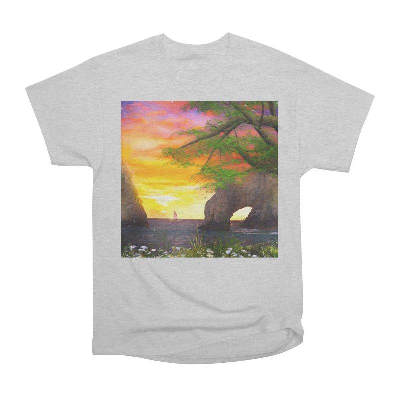 Sunset Dream Women's Heavyweight Unisex T-Shirt by Jasmina Seidl's Artist Shop