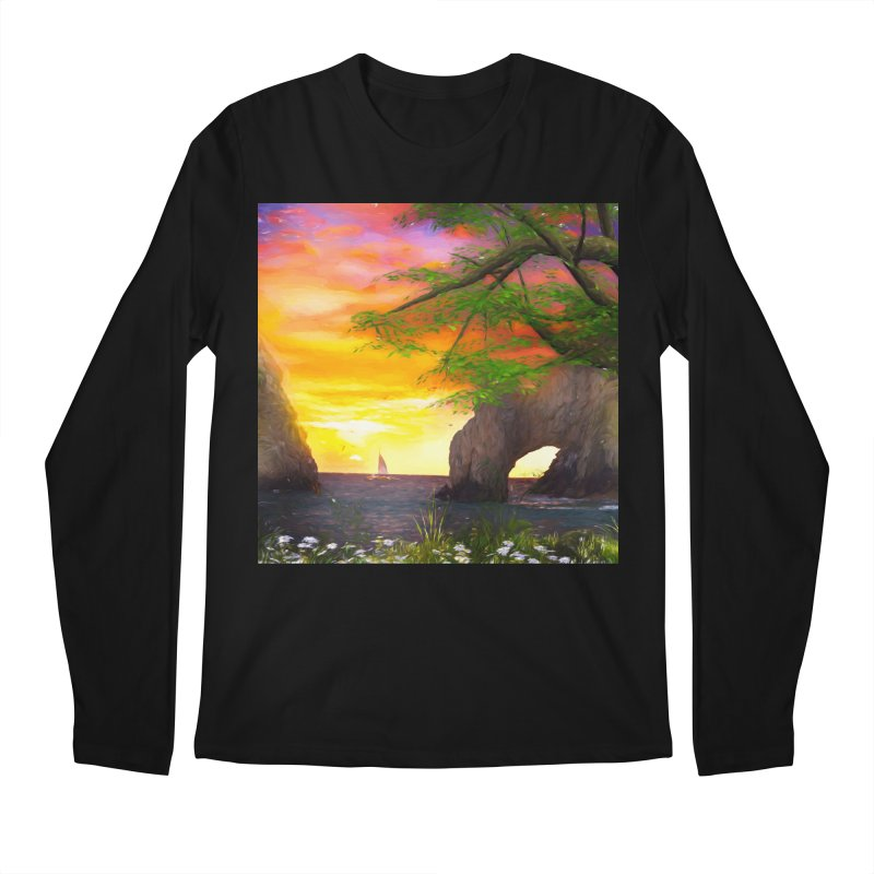 Sunset Dream Men's Regular Longsleeve T-Shirt by Jasmina Seidl's Artist Shop