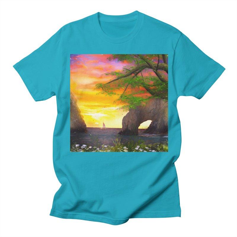 Sunset Dream Men's Regular T-Shirt by Jasmina Seidl's Artist Shop