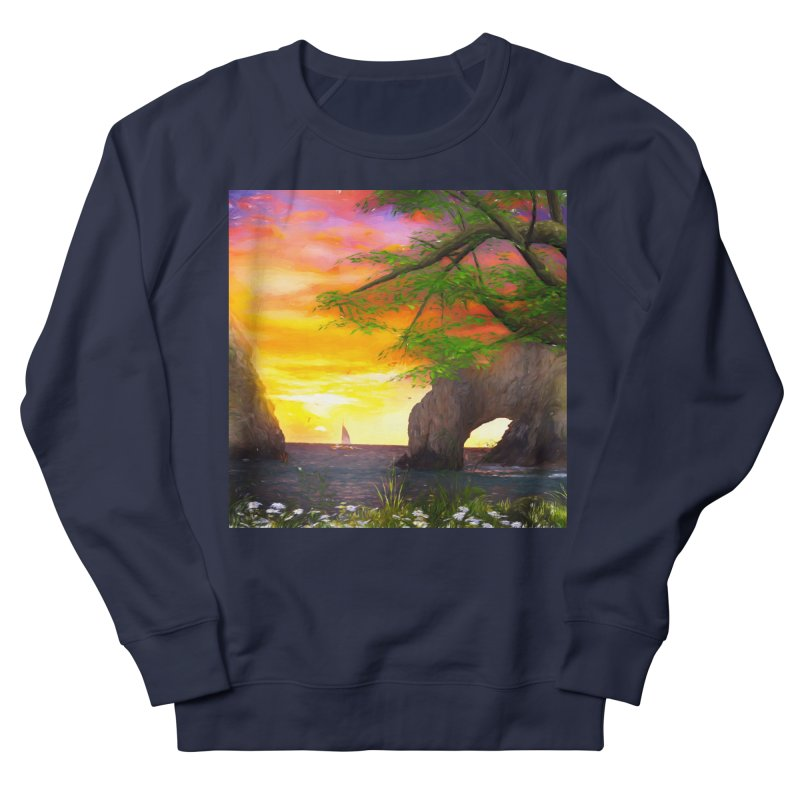 Sunset Dream Men's French Terry Sweatshirt by Jasmina Seidl's Artist Shop