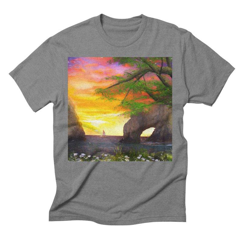 Sunset Dream Men's Triblend T-Shirt by Jasmina Seidl's Artist Shop