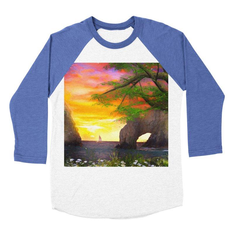 Sunset Dream Women's Baseball Triblend Longsleeve T-Shirt by Jasmina Seidl's Artist Shop