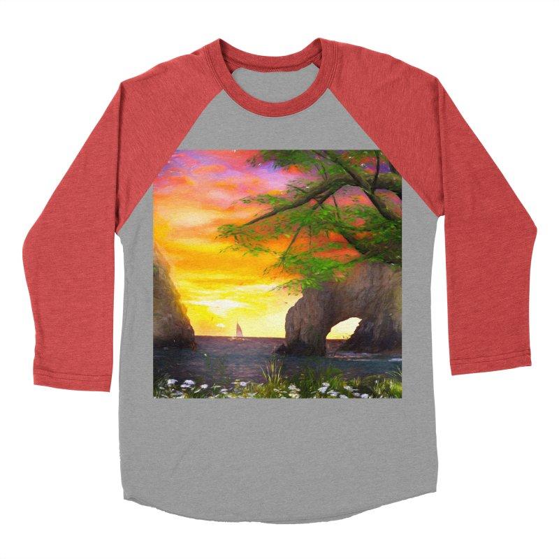 Sunset Dream Men's Baseball Triblend Longsleeve T-Shirt by Jasmina Seidl's Artist Shop