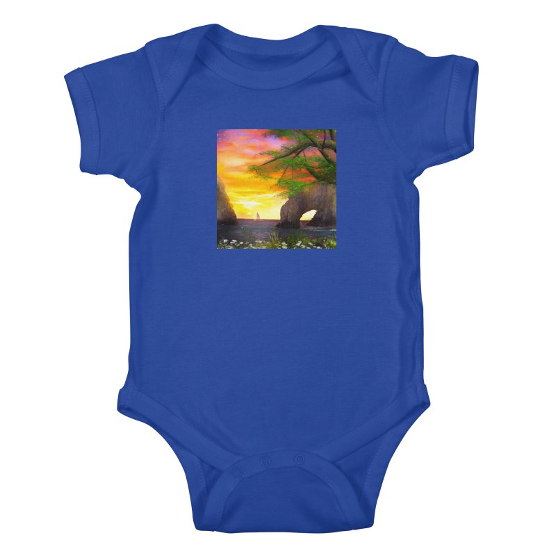 Sunset Dream Kids Baby Bodysuit by Jasmina Seidl's Artist Shop
