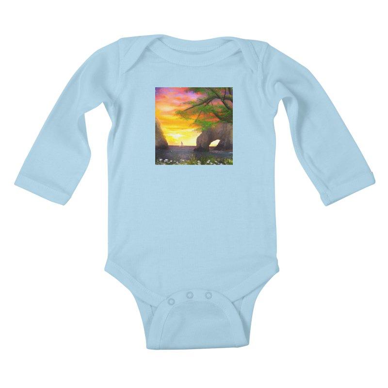Sunset Dream Kids Baby Longsleeve Bodysuit by Jasmina Seidl's Artist Shop