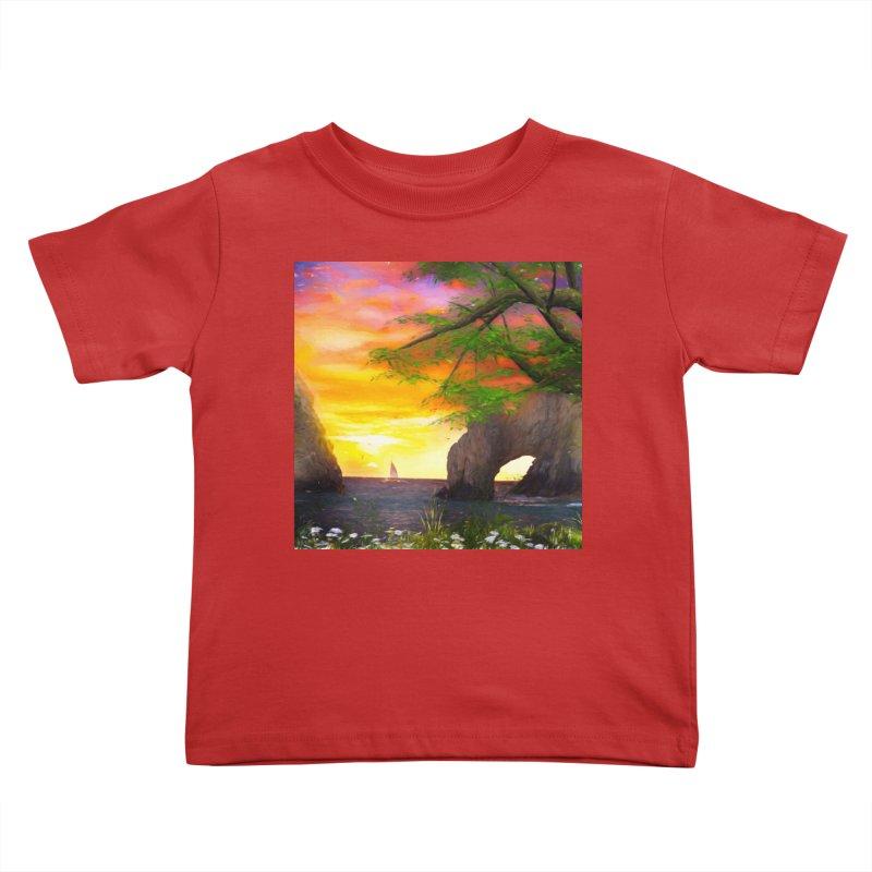 Sunset Dream Kids Toddler T-Shirt by Jasmina Seidl's Artist Shop