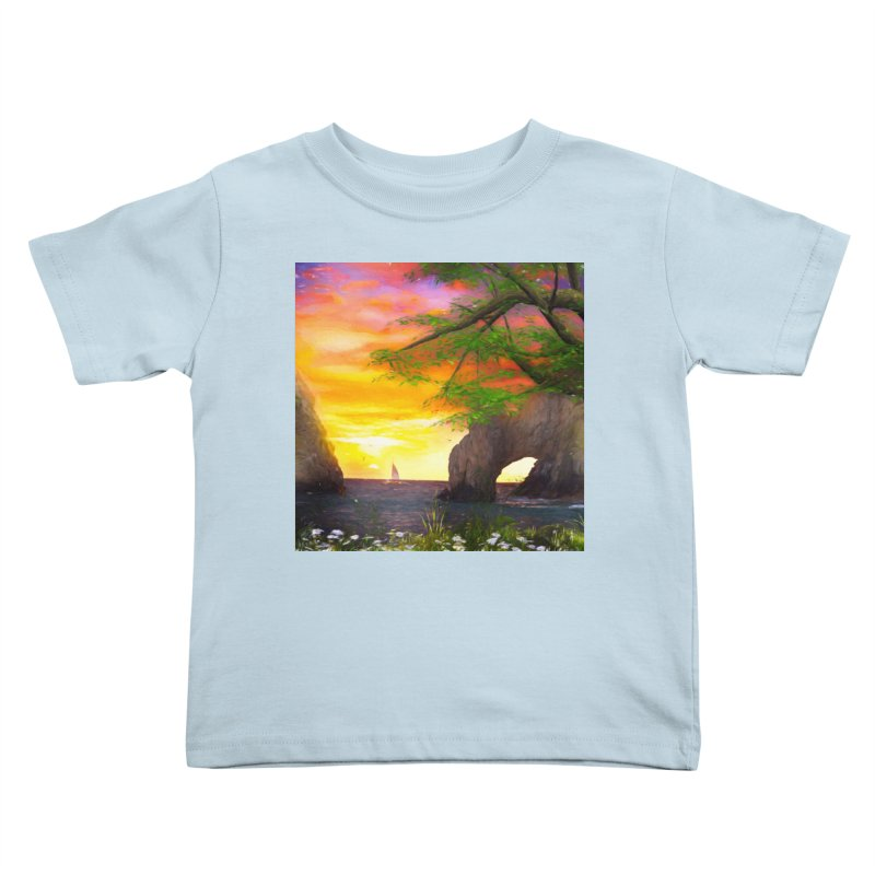 Sunset Dream Kids Toddler T-Shirt by Jasmina Seidl's Artist Shop