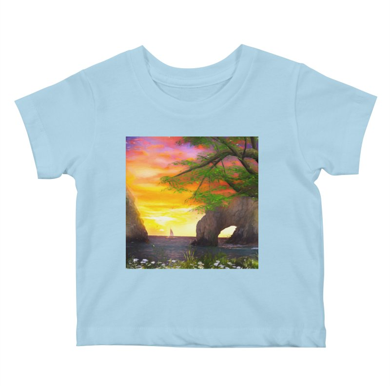 Sunset Dream Kids Baby T-Shirt by Jasmina Seidl's Artist Shop