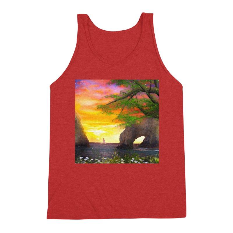 Sunset Dream Men's Triblend Tank by Jasmina Seidl's Artist Shop