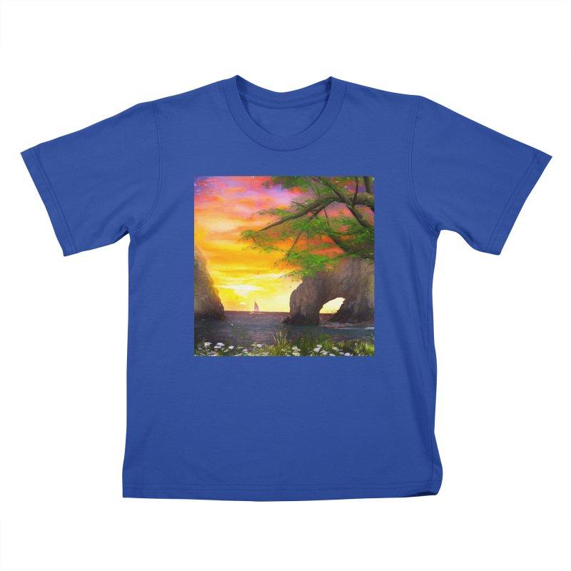 Sunset Dream Kids T-Shirt by Jasmina Seidl's Artist Shop