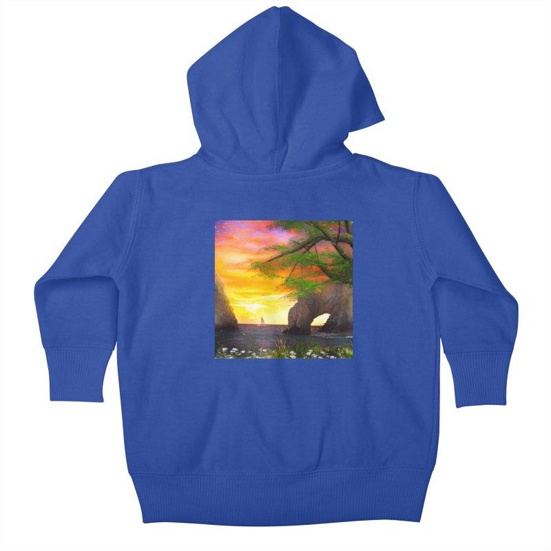 Sunset Dream Kids Baby Zip-Up Hoody by Jasmina Seidl's Artist Shop