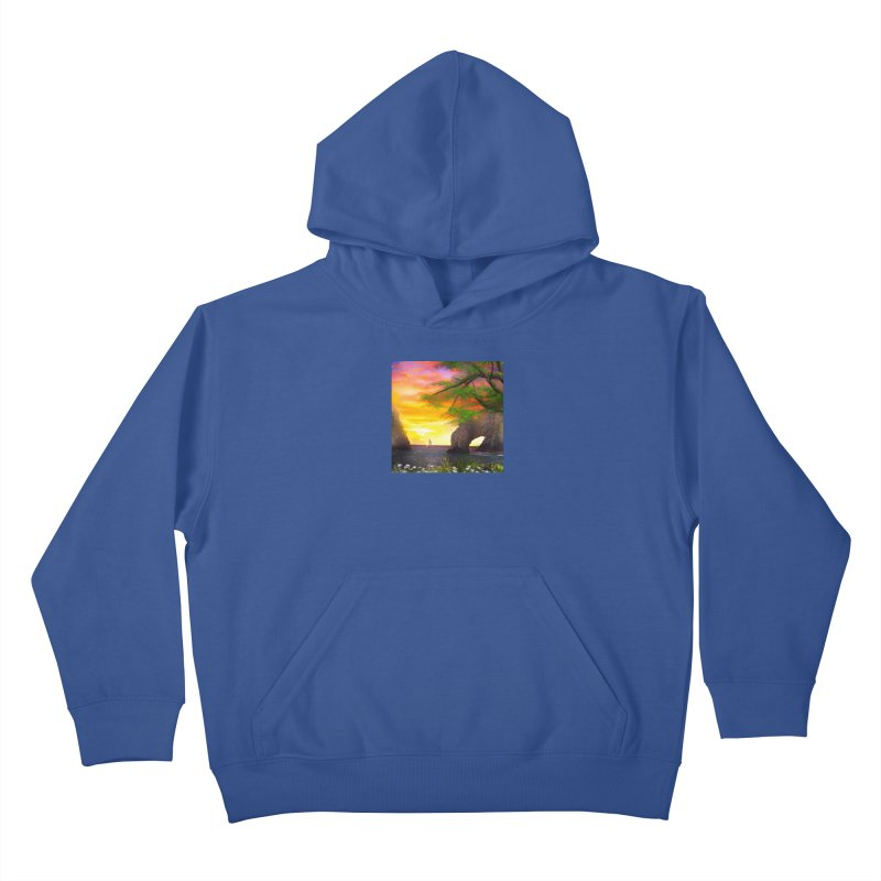 Sunset Dream Kids Pullover Hoody by Jasmina Seidl's Artist Shop