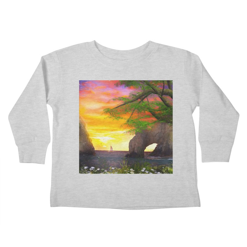 Sunset Dream Kids Toddler Longsleeve T-Shirt by Jasmina Seidl's Artist Shop