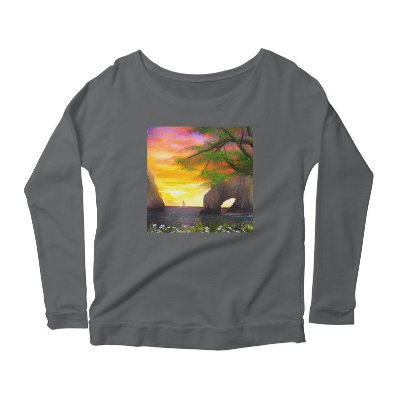 Sunset Dream Women's Scoop Neck Longsleeve T-Shirt by Jasmina Seidl's Artist Shop