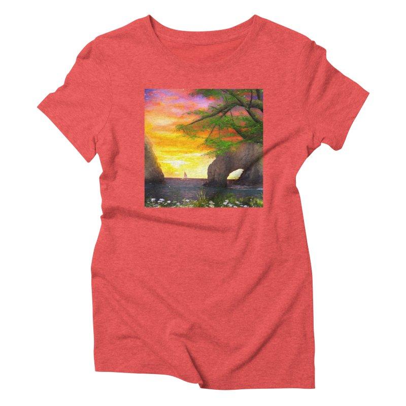 Sunset Dream Women's Triblend T-Shirt by Jasmina Seidl's Artist Shop