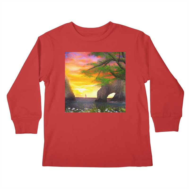 Sunset Dream Kids Longsleeve T-Shirt by Jasmina Seidl's Artist Shop