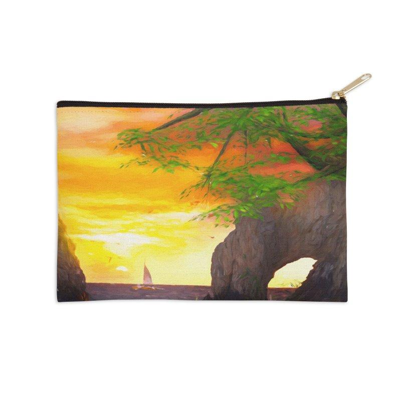 Sunset Dream Accessories Zip Pouch by Jasmina Seidl's Artist Shop