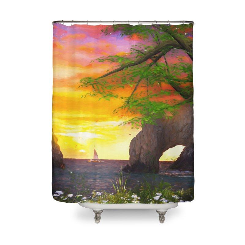 Sunset Dream Home Shower Curtain by Jasmina Seidl's Artist Shop