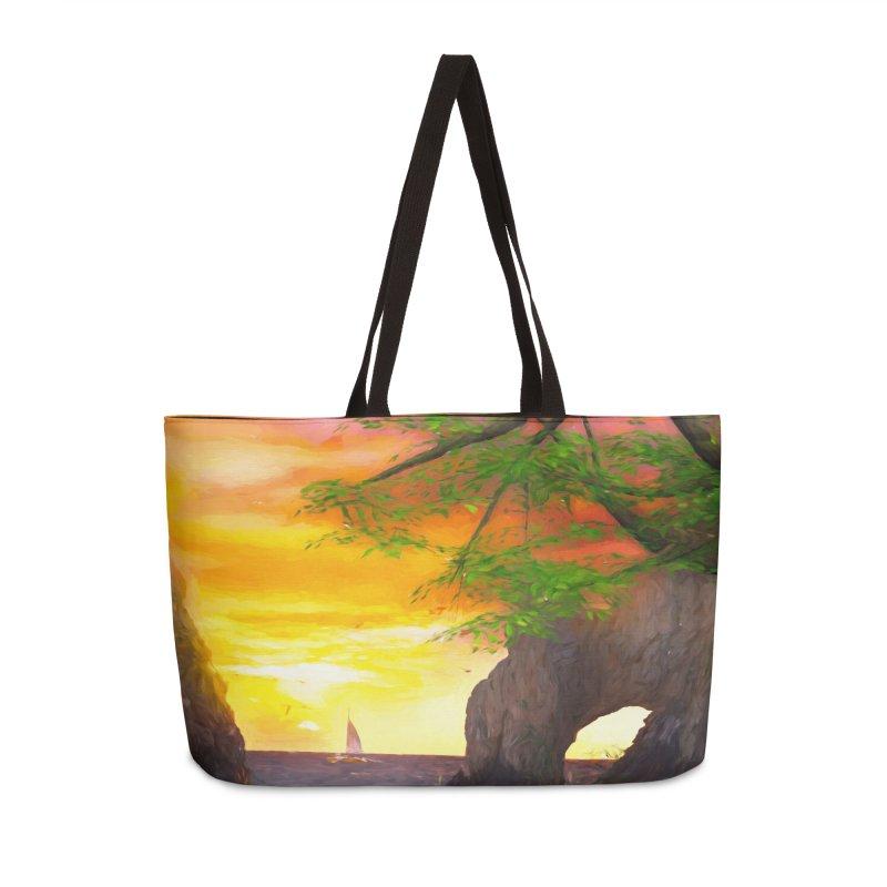 Sunset Dream Accessories Weekender Bag Bag by Jasmina Seidl's Artist Shop